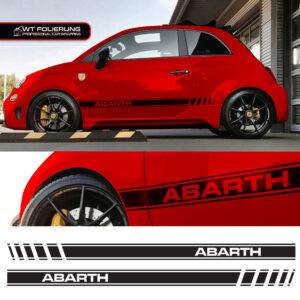 Fiat 500 Abarth Streifen
